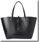 Whistles Shaftesbury Croc Printed Leather Tote Bag