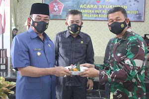 Kodim 0314 Inhil Gelar Syukuran Peringatan HUT Ke-76 TNI