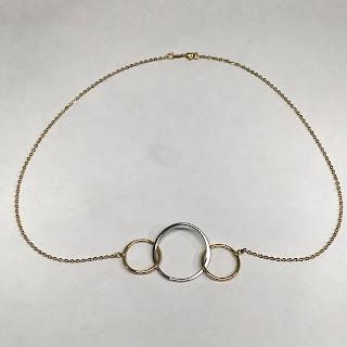 14K Gold Hoop Necklace