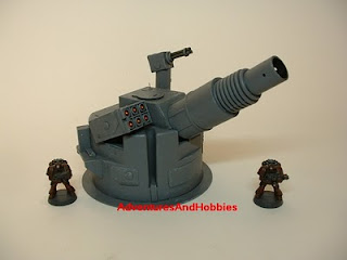 Heavy cannon turret right view Science Fiction war game terrain and scenery