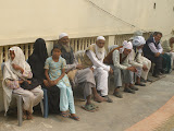 Villagers wait to see the doctor at the new health clinic