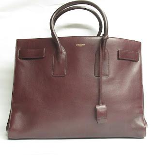 Saint Laurent Burgundy Tote Bag