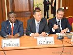 La délégation des diplomates accrédités en RDC le 11/06/2015 au palais de la nation à Kinshasa lors des consultations organisées par le Président Joseph Kabila. Radio Okapi/Ph. John Bompengo