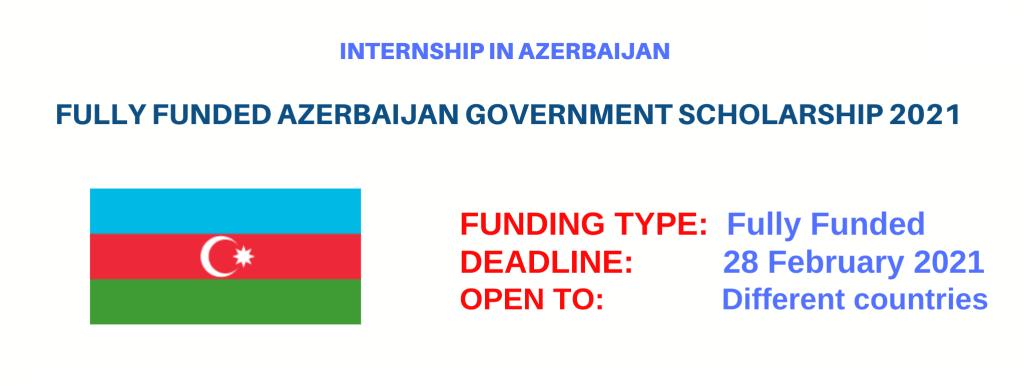 Azerbaijan Government Scholarship 2021