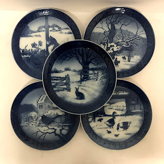 Royal Copenhagen Commemorative Plate Lot of 5