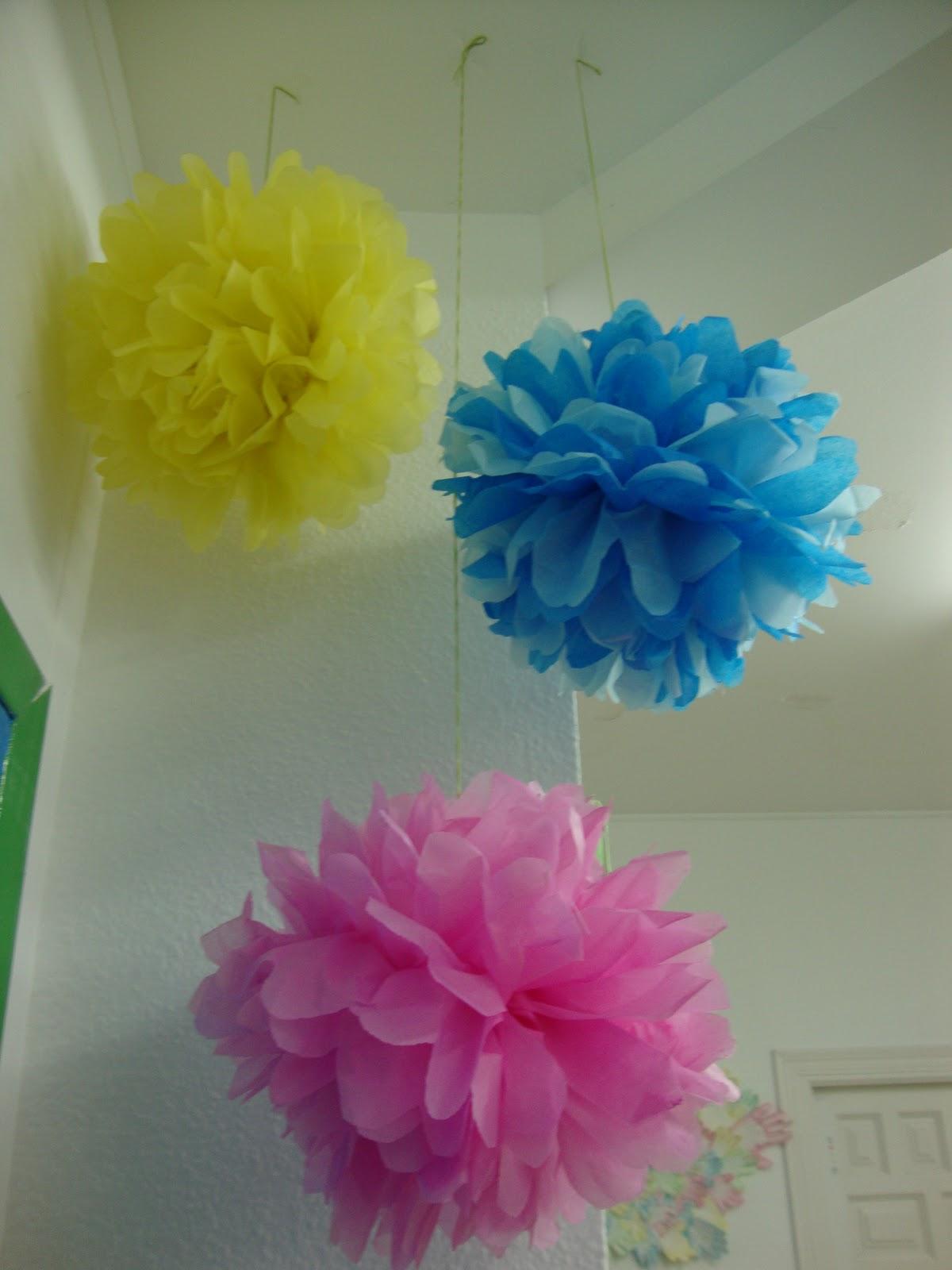 Cosas de inma decoraci n de fiestas flores de papel de seda for Decoracion con plantas para fiestas