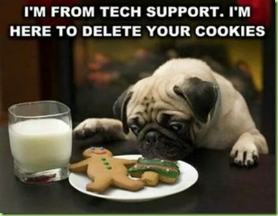 deleting your cookies