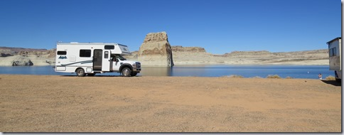Lone Rock Is Part Of Lake Powell National Recreation Area The Campground Has Portable Toilets A Dump Station And Fresh Water But No Tables Or Numbered