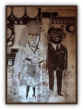 Photo: Antonio Berni La boda de Ramona (o El casamiento de Ramona) 1963. 78,5 x 57 cm. Xilocollage. Colección particular, Buenos Aires. Expo: Antonio Berni. Juanito y Ramona (MALBA 2014-2015)