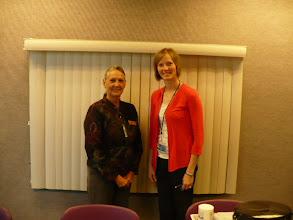 Photo: Dr. Linda Crowe, PhD, CCC-SLP, Program Director and Chair, Communication Disorders, University of Nebraska - Kearney  and Laura Moody, M.S., CCC-SLP, RiteCare Clinic Supervisor