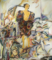 'Tearing open the coat of experiences', oil on canvas, 27,5x 31,5 inches,1996