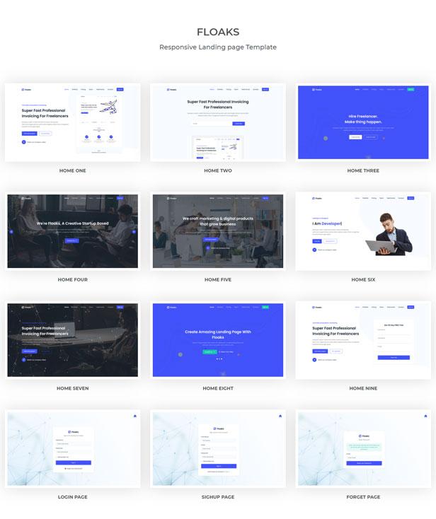 Floaks - Responsive Landing Page Template - 1