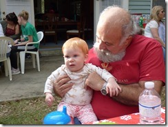Marcia's side of the family - brother Skevos and Grandchild