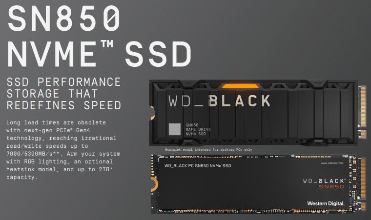 Western Digital เปิดตัว WD_BLACK SN850 NVMe SSD มอบอีกขั้นของความเร็วแรงบนเทคโนโลยี PCIe® GEN4 รุ่นใหม่