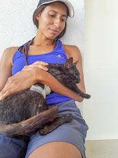 Tanya cuddling Mrs. Hook after her operation.