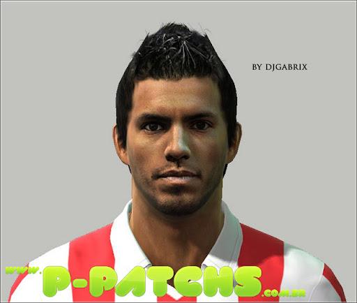 Agüero Face Face para PES 2011 PES 2011 download P-Patchs