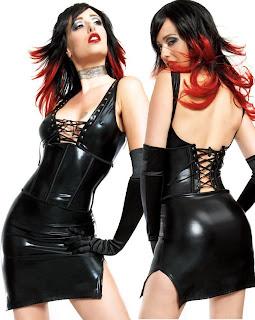 Sexy Black Vinyl Dress