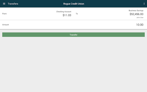 Screenshot for Rogue Credit Union in United States Play Store