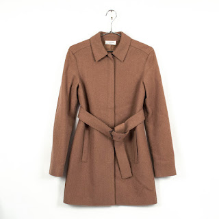 Calvin Klein Collection Camel Balmacaan coat