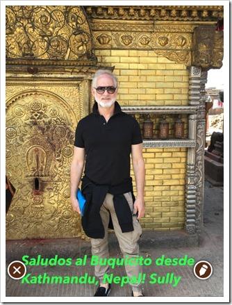 SALUDOS DESDE KATHMANDU
