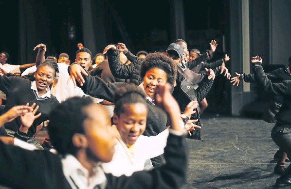 Bay youngsters are acting in a production that takes inspiration from the musical 'Sarafina!'