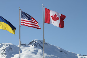 Flags at Whistler Olympic Park