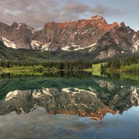 Lake Mangart by Blaz Crepinsek - Landscapes Mountains & Hills ( mangart, lake, julian alps,  )
