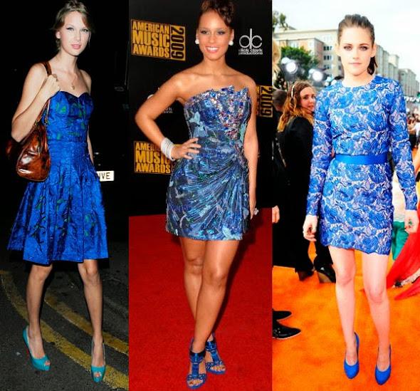Qual sapato usar com vestido de renda azul