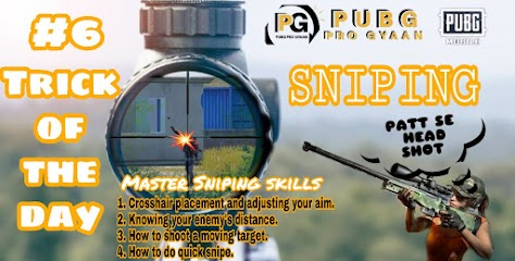 How To Master Sniping skill In Pubg Mobile. Trick of the day #6.