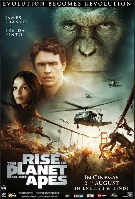 Poster Of Rise of the Planet of the Apes (2011) Full Movie Hindi Dubbed Free Download Watch Online At Alldownloads4u.Com