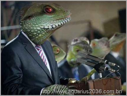 Os aliens reptiliano terrenos são os que estão a tempos interagindo na sociedade humana.