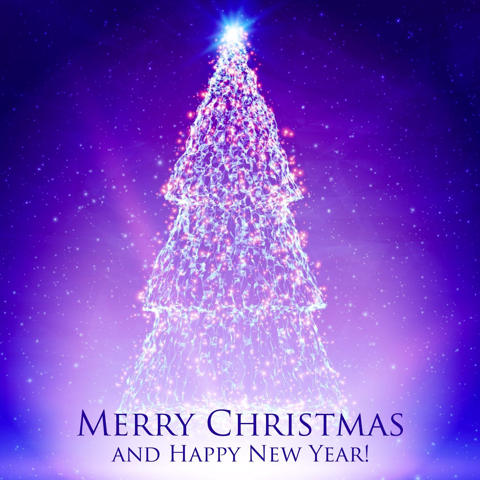 Shining Christmas Trees Colorful Violet Background With Backlight Glowing Particles Abstract Vector Background Glowing Fir Tree Elegant Shining Background You Design Free Download Vector CDR, AI, EPS and PNG Formats