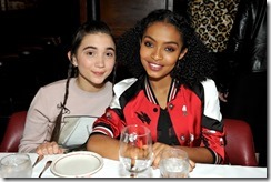 HOLLYWOOD, CA - MARCH 30:  Actors Rowan Blanchard (L) and Yara Shahidi attend the Coach & Rodarte celebration for their Spring 2017 Collaboration at Musso & Frank on March 30, 2017 in Hollywood, California  (Photo by Donato Sardella/Getty Images for Coach)