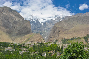 Ultar sar seen from Hunza valley
