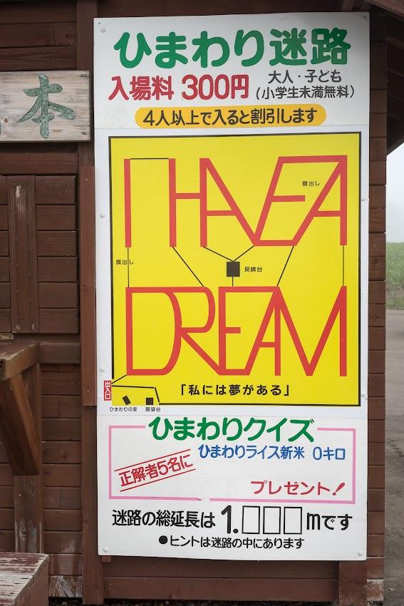 2015年のひまわり迷路デザイン決定!「I HAVE A DREAM」