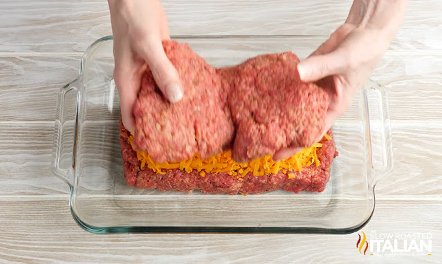 Placing top on meatloaf
