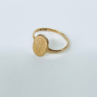 14K Gold Small Ring