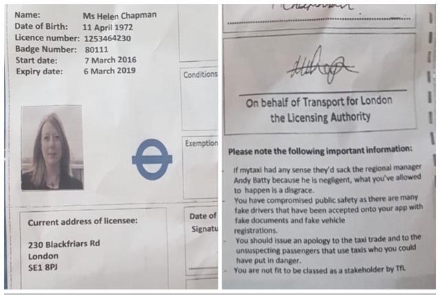 TAXI LEAKS EXCLUSIVE: Helen Chapman's Photo Shopped Bill