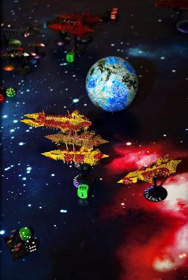 [Navy/SM vs Chaos] Deux flottes du chaos de 1000 points contre deux flottes impériales de 1000 points... _IGP8305