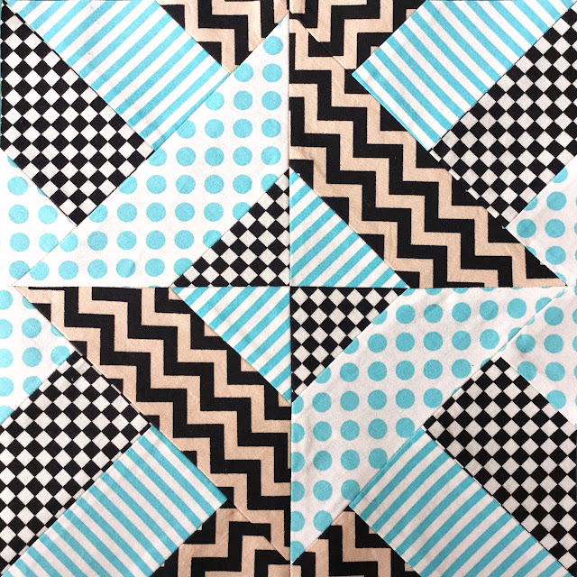 Easy block tutorial - from fabric strips to quilt block