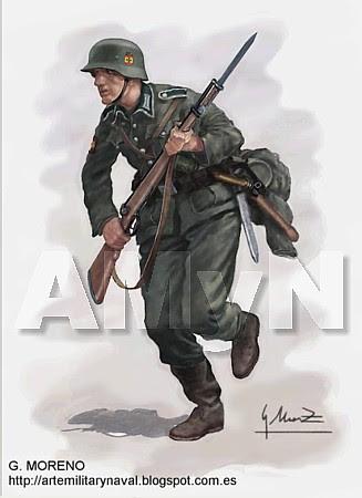 División Azul. Fusilero