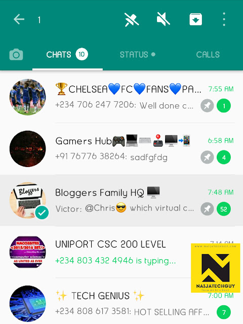 Whatsapp Beta Update Let's You Pin 2-3 Chats 2