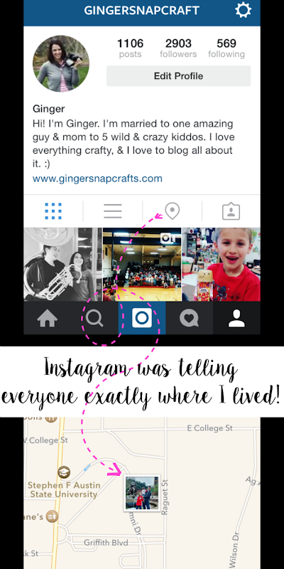 Instagram was telling everyone exactly where I lived! Warning! #bloggerlife #internetsafety