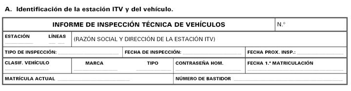 Modelo de informe inspección técnica de vehículos