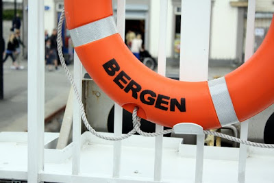 Life ring on a ferry from Stavanger to Bergen in Norway