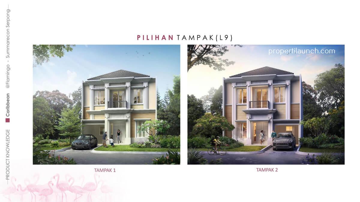 Fasad rumah Caribbean Tipe 9