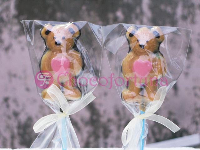 Cokelat coklat lolipop boneka teddy bear