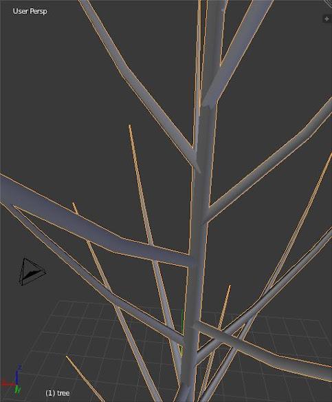blender drzewko