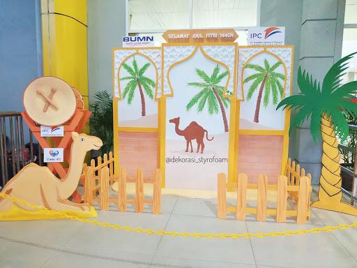 dekorasi photo booth idul Fitri