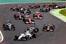 Start of the 2014 Brazilian F1 GP best of the rest into Senna SS